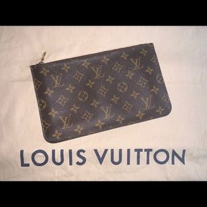 Authentic Louis Vuitton neverfull pochette MM & GM